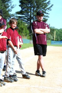 Mike in his typical coaching stance